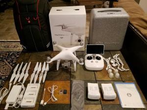 دجي فانتوم 4 كوادكوبتر الطائرة بدون طيار مع 4K كاميرا اس�
