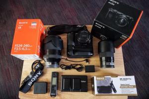 سوني ألفا a7r إي 42.4MP كاميرا رقمية / سوني ألفا a6300 24.2MP كامي�